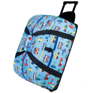 Olive Kids Trains, Planes & Trucks Rolling Duffel Bag - 51079