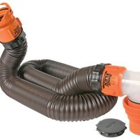 Camco 39761 RhinoFLEX 15' RV Sewer Hose Kit with Swivel Fittings | AihaZone Store
