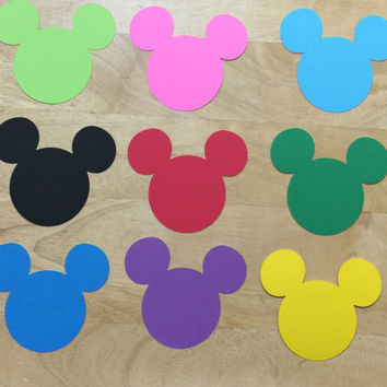 Mickey Mouse Cut Outs (Various Sizes and Colors Available)
