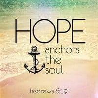 Hebrews 6:19 Stretched Canvas by Pocket Fuel | Society6