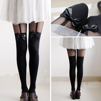 Mock Suspender Tights from Poison