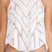 Free People Ginger Top in White from REVOLVEclothing.com