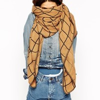 ASOS Oversized Scarf In Grid Check