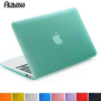 Alabasta Matte Rubberized Hard Case Cover For Macbook Pro 13 15 Pro Retina 12 13 15 Macbook Air 11 13 A1706 A1708 Laptop Shell