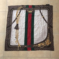 Authentic gucci silk scarf