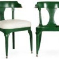 One Kings Lane - Kelly Wearstler: Modern Glamour - Green Chair Frames, Set of 4