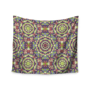 "Allison Soupcoff ""Plum Lace"" Green Purple Wall Tapestry"