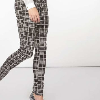 **Tall Grey Dogstooth Bengaline Trousers - Tall Jeans & Trousers - Shop By Fit