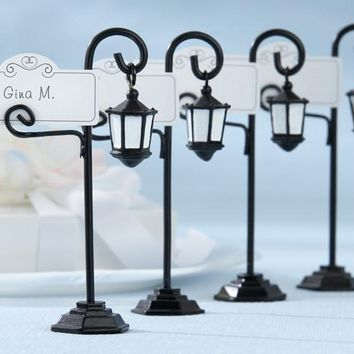 Set Of 4 Streetlight Place Card Holder
