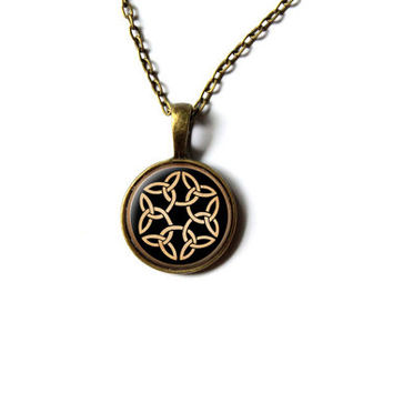 Irish necklace Celtic knot jewelry Pagan pendant NW284