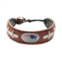 GameWear New England Patriots Leather Football Bracelet