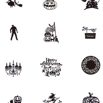 HamyHo Carbon Metal Steel Cutting Dies Halloween Pumpkin Embossing Die For DIY Scrapbooking Album Paper Craft Card Decorations