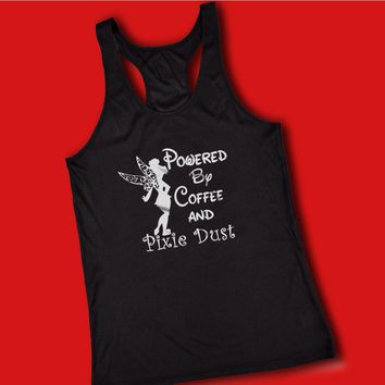 Disney Powered By Coffee And Pixie Dust Tinkerbell Women'S Tank Top