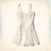Pleated Lace Romper