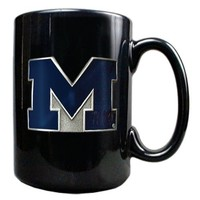 NCAA Michigan Wolverines 15oz Black Ceramic Mug