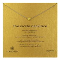 dogeared - dainty minimalist 'circle necklace', Gold Dipped Day-First™