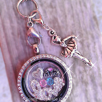 Dance Ballet Love Floating Keepsake Glass Living Locket