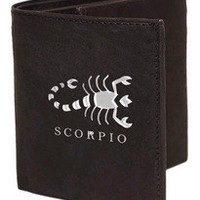 Scorpio Sign Leather Wallets