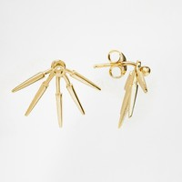 ASOS Gold Plated Sterling Silver Spike Swing Earrings