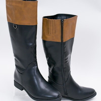 Kentucky Derby Two-Toned Riding Boots