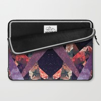 ROSES IN THE GALAXY Laptop Sleeve by Vasare Nar
