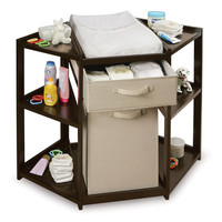 Badger Basket Diaper Corner Baby Changing Table with Hamper and Basket You'll Love | Wayfair