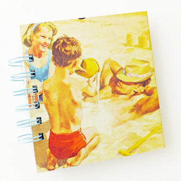 Travel Journal, Seaside Journal, Holiday Notebook, Lined Journal,  Fun and Games Notebook, Ladybird Book Notebook, Small notepad