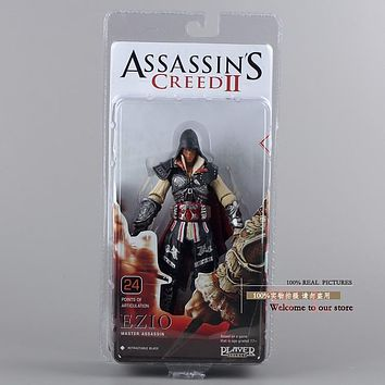 Popular Game Assassin's Creed 19cm Ezio Master Assassin PVC Figurine Collection Model Toys For Boys Gifts Free Shipping