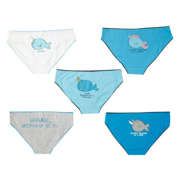 Narwhal Unicorns Of The Sea Hot Pants 5 Pack