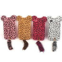 iPhone 4/4s/5 Leopard case with fluffy tail