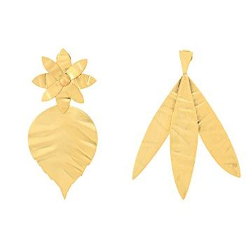 Tory Burch Hammered Metal Leaf Earrings