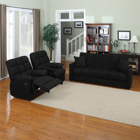 Walmart: Baja Convert-a-Couch Sofa Bed with Set of 2 Recliners, Multiple Colors