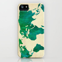 Watercolor World Map iPhone Case by Samantha Ranlet | Society6