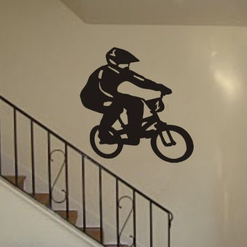 BMX Biker Version 2 Design Sports Decal Sticker Wall Vinyl