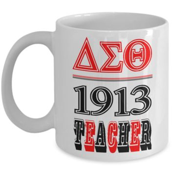 Delta Sigma Theta 1913 Teacher Ceramic Coffee Mug