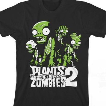 Plant VS Zombies 2 New Fashion Men's T Shirt The Zombie Horror Graphic Printed 100% Cotton Funny Adult Top Tee Tshirt Size S-3XL