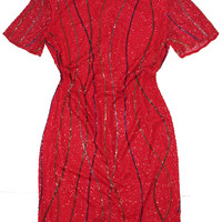 Hot Lava Beaded Dress S