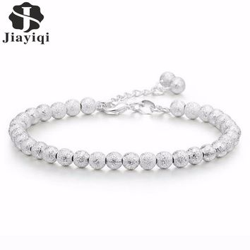 2017 Silver color Beads Party Wedding Bracelets & Bangles Fashion Love Friendship Bracelets for Women Top Quality Girls Gift
