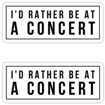 'Concert' Sticker by MadEDesigns