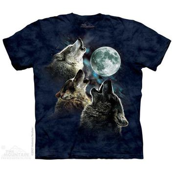 New THREE WOLF MOON IN BLUE YOUTH CHILD  T SHIRT -