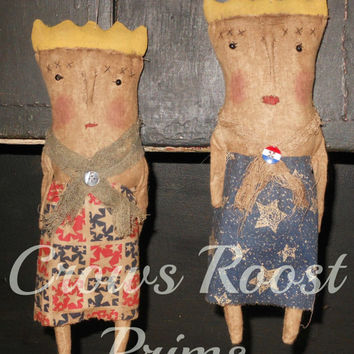Americana Lady LIberty primitive doll