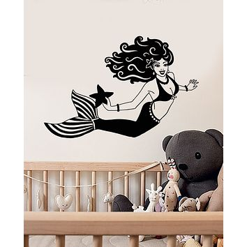 Vinyl Wall Decal Cartoon Beautiful Sexy Mermaid Stickers (3283ig)