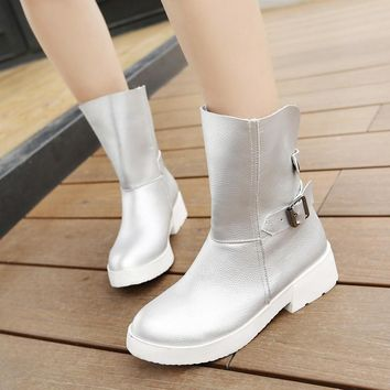 Fashion Online Buckle Ankle Boots Women Shoes Fall Winter 3550