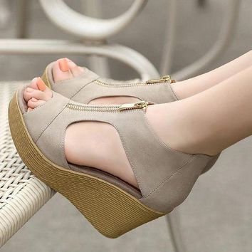 Lotus Jolly Women Wedge Sandals Summer Casual Shoes Woman Platform Wedges Vintage High