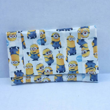 Minions Duct Tape Wallet - Coin Purse - Pouch - Card Holder with Velcro