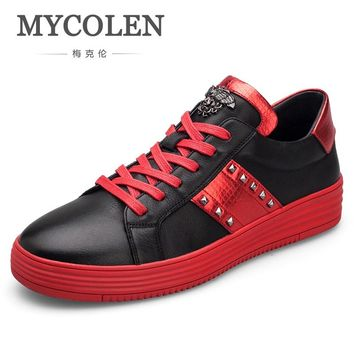 MYCOLEN New Arrival Men Casual Shoes High Style Youth Ankle Unisex Flat Sneakers Top Fashion Men Shoes Zapatos Deportivos