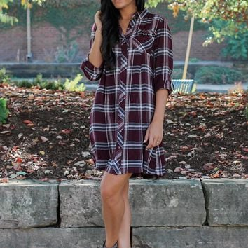 Conquer the Day Plaid Dress