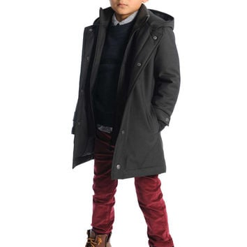 Appaman Boys' Vintage Black Gotham 2.0 Coat