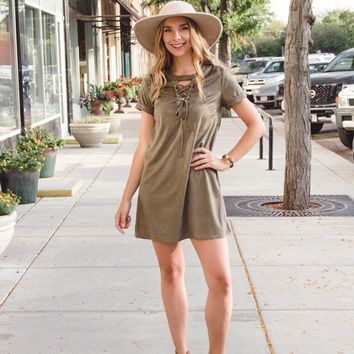 Into the Wild Suede Dress