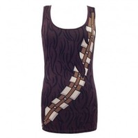 Star Wars I Am Chewbacca Juniors Brown Costume Tank Top - Star Wars - | TV Store Online